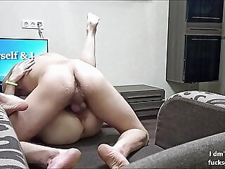Fucking a cute Asian Teen on the couch and cumming on her amateur asian brunette