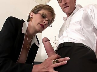 Lady Sonia in British lady fucking on a table big tits blonde british