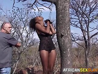 Ebony Girl Tied, Punished and Fucked Hard In Forest african bdsm ebony